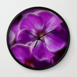 Abstract Phlox Wall Clock