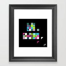 Something Other 5 On Black Framed Art Print