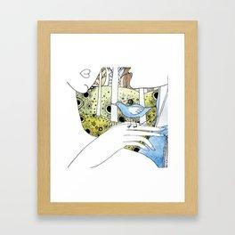Spring-love-bird-arms-sheandhim Framed Art Print