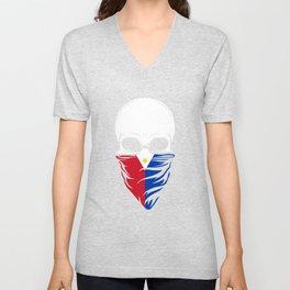 Philippines Skull T-Shirt Unisex V-Neck