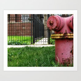 Rusty Hydrant Square Art Print