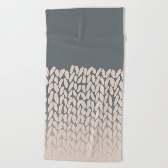 Half Knit Ombre Nat Beach Towel