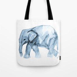 Elephant Sketch in Blue Tote Bag