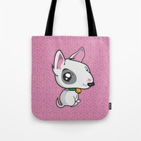 puppy Tote Bags featuring Puppy by Eye Opening Design
