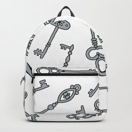 Skeleton Keys Grey Backpack