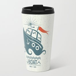 Brave small boat print Travel Mug