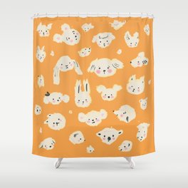 animal faces Shower Curtain