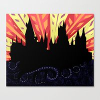 hogwarts Canvas Prints featuring Hogwarts by Samantha Mask