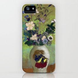 """Odilon Redon """"Vase Au Guerrier Japonais"""" iPhone Case"""