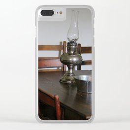 Antique Hurricane Lamp on Table Clear iPhone Case