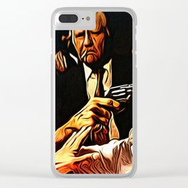 A Man Who Says No To Champagne Says No To Life Clear iPhone Case