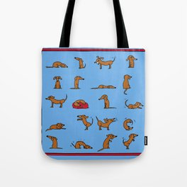 Sausage the Dog: Blue Print Tote Bag