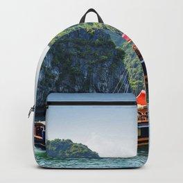 Halong Bay summer sea Tonkin Gulf South China Sea Vietnam Quang Ninh Backpack