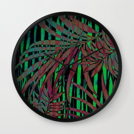 With the Heat of the Jungle, Comes the Cool of the Night Wall Clock