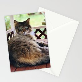 Green Eyes & Fluff (Lanai Cat Sanctuary) Stationery Cards