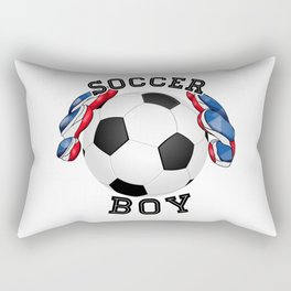 Soccer boy, football Rectangular Pillow