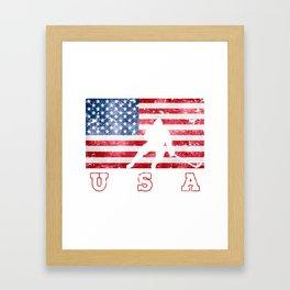 Team USA Ice Hockey on Olympic Games Framed Art Print