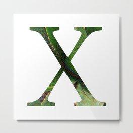 """Initial letter """"X"""" Metal Print"""