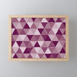 Purple Triangles Framed Mini Art Print