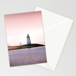 Fayerweather Island Lighthouse in Connecticut Stationery Cards