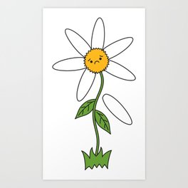 sad flower Art Print