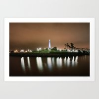 The Light of Long Beach Art Print