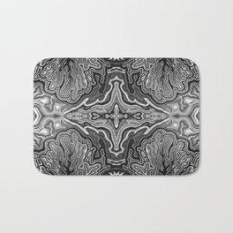 Abstract #4 - V - High Contrast Black & White Bath Mat