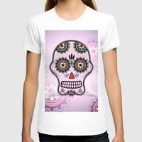 sugar skull T-shirts featuring Sugar skull by nicky2342