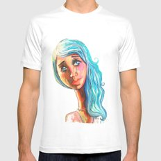 She'd be standing next to me.  MEDIUM White Mens Fitted Tee
