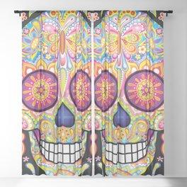 Sugar Skull Art (Mariposa) Sheer Curtain