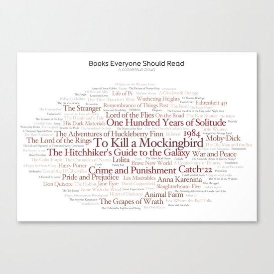 Books Everyone Should Read (Original-version) by informationisbeautiful