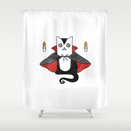 Vampire Cat – Dracula suit Shower Curtain