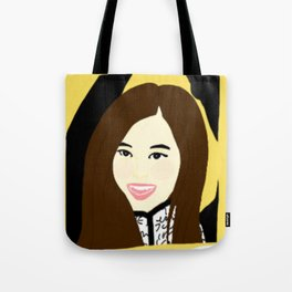 Knock Knock! Tzuyu Yellow Tote Bag