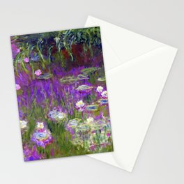 Water Lilies - Claude Monet (proton purple) Stationery Cards