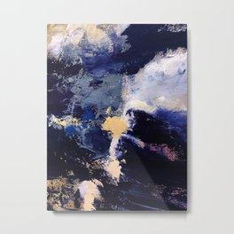 Cobalt blue, Navy gold, deep space Metal Print