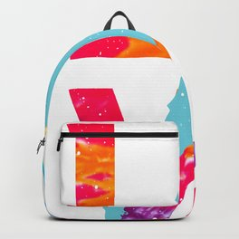 LOVE feminine Soccer Funny Psychedelic and Tie Dye design graphic Backpack
