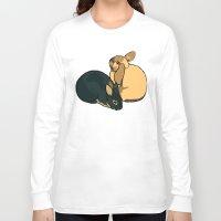 bunnies Long Sleeve T-shirts featuring Bunnies by Nemki