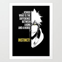 hollow ichigo from bleach quote Art Print