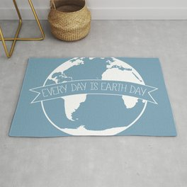Every Day is Earth Day - white Rug