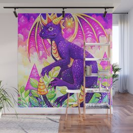 Purple Dragon Wall Mural