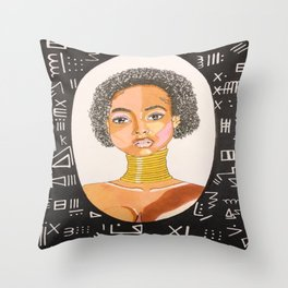 Queen Nefertiti Throw Pillow