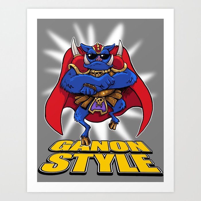 Oppa Ganon Style Art Print By Bleee Society6