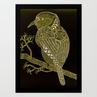 Bird Pattern Illustration Art Print