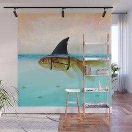 goldfish with a shark fin Wall Mural