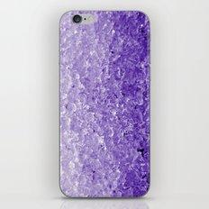Purple ice iPhone & iPod Skin
