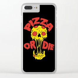 Pizza or Die Clear iPhone Case