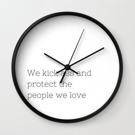 We kick ass - Once upon a time - TV Show Collection Wall Clock