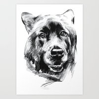 marley Art Prints featuring Marley by Megan Barr