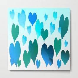 Hearts get Lighter (blue) Metal Print