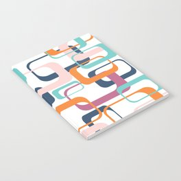 Mid Century Modern Swanky Pattern Notebook